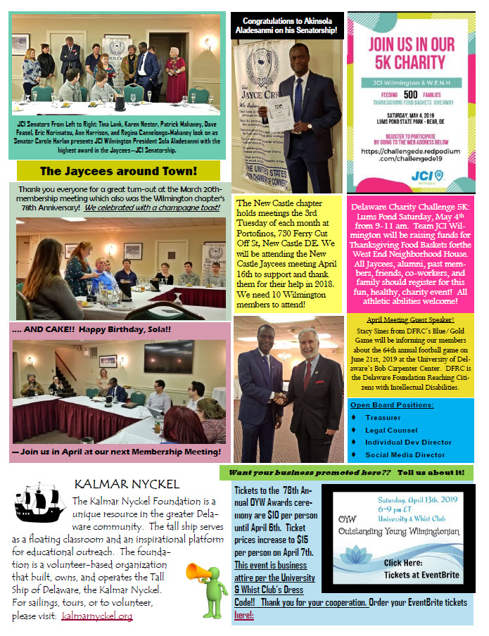 Page 2 - April 2019 Newsletter